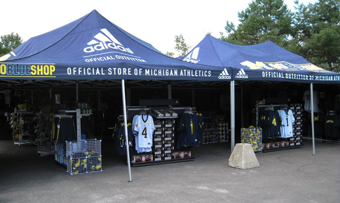 Michigan State Tent ... & Custom Printed Popup Logo Tents: New England Flag u0026 Banner