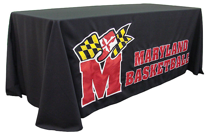 ... Applique Table Throw: University Of Maryland Basketball