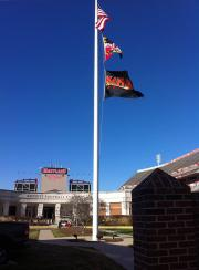 Applique custom flag for Maryland football stadium