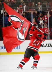 Applique logo flag for New Jersey Devils mascot