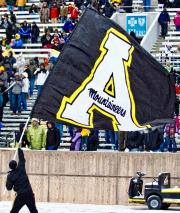 Mountaineers custom football flag