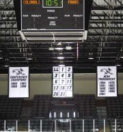 Hand-sewn Providence College Championship banners
