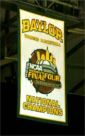 Hand sewn 2005 NCAA National Champions for Baylor University