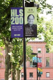 Harvard Law School Bicentennial lightpole banners