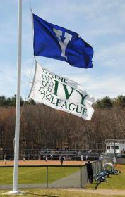 Custom Yale and Ivy League flags for Yale baseball