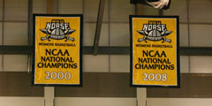 Applique NCAA Champions banners for Northern Kentucky University