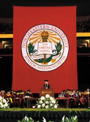 northeastern university graduation banner