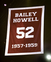 Bailey Howell retired number achievement banner