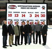 Northeastern hockey achievement banner