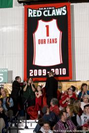 Maine Red Claws Fan Appreciation Custom hand-sewn banner