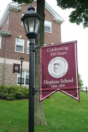 Hopkins School Lightpole Banner
