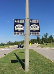 Custom printed pole banners for Paul W. Bryant High School