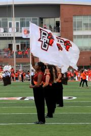 Hand sewn football cheer flags for Bowling Green