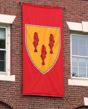 Custom hand sewn Harvard Divinity School banner for commencement