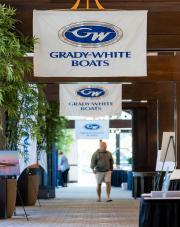 Custom hand-sewn banners for Grady-White Boats