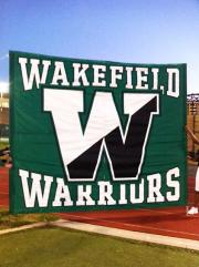 Applique Run Through banner for Wakefield Warriors
