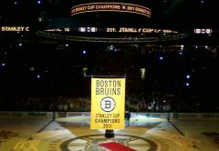 Boston Bruins 2011 championship banner raising ceremony