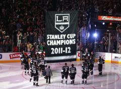 LA Kings 2012 Stanley Cup Championship Banner