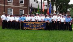 Custom parade banner for Abington Fire Department