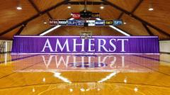 Custom applique gym divider for Amherst College