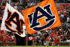 Multiple custom cheer flags for Auburn football