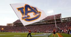 Giant football cheer flag for Auburn