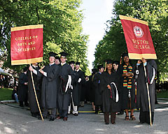 Banners for Boston College's Commencement