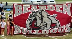 Hand sewn run through banner for Bearden HS