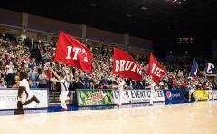 Applique cheerleading flags for Belmont University basketball