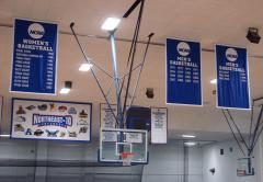 Bentley University custom championship and conference banners