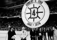 Retired number ceremony for Bobby Orr