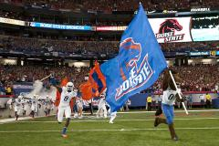 Boise State Cheerleading flag