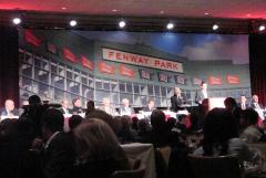 Fenway Park backdrop for Boston Baseball Writers Dinner 2012