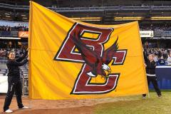 Hand sewn break through banner for Boston College