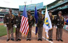 Boston Strong flag at Fenway Park