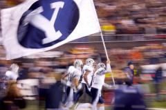 Applique Brigham Young football flag