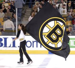 Hand-sewn Boston Bruins logo flag