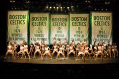 boston celtics banners cheerleaders