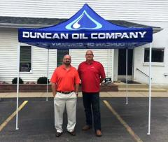 Custom popup tent for Duncan Oil