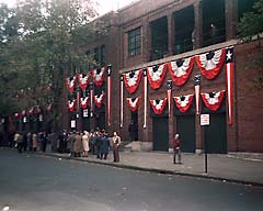 Bunting at Fenway Park, 1946, during the American League Pennant series