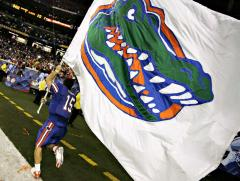 Football cheerleading flag for Florida Gators