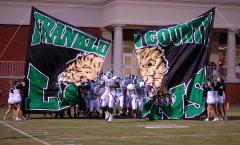 franklin county football run through banner
