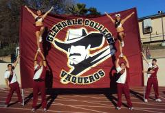 Glendale College huge applique banner for cheerleading