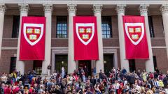 Huge custom applique banners for Harvard's commencement ceremonies