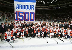 New York Islanders Arbour-1500 banner raising ceremony