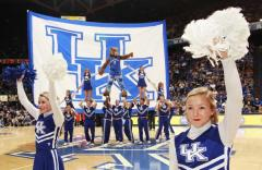 University of Kentucky hand sewn cheer logo banner