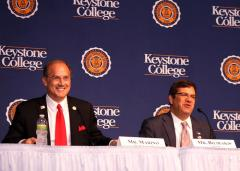 Media Backdrop for Keystone College