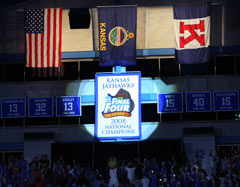 2008 NCAA National Champions Banner raising ceremony at Kansas University