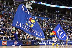 Kansas Jayhawks custom spirit flag