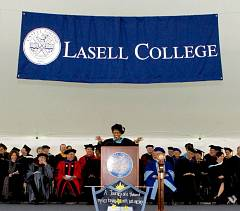 Lasell College custom school seal banner